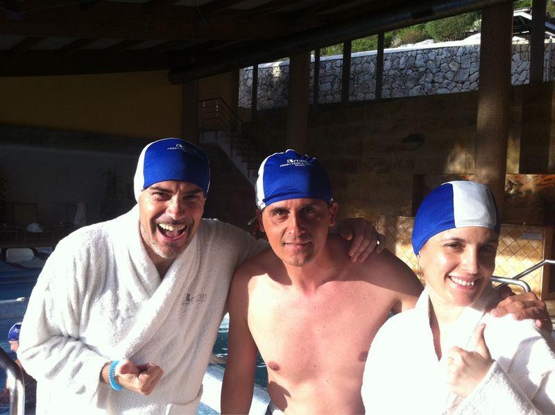 @jimmypons @GinaTost y @viajarcondiego hacen un pre #gintwitts en el Blue Spa. Estos si que saben