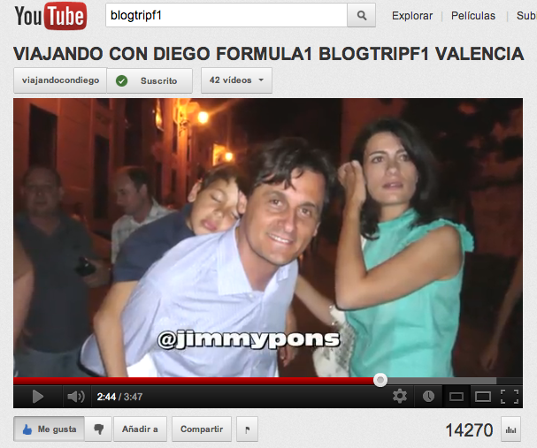 Video diego blogtrip f1