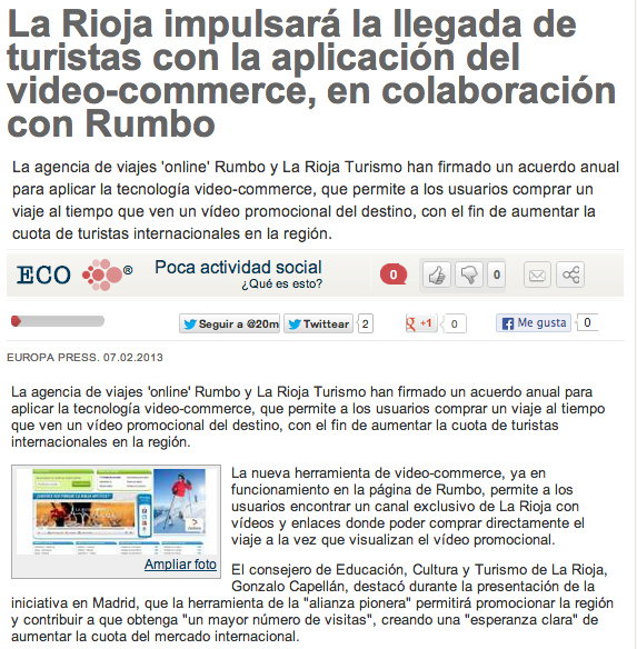 Noticia Videocommerce La Rioja