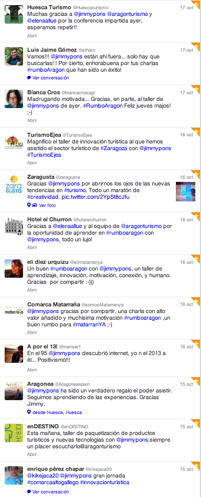 Opiniones tallers innovacion twitter