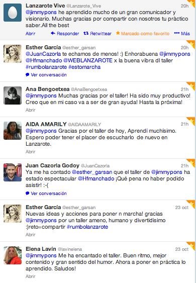 Taller Lanzarote comentarios 1